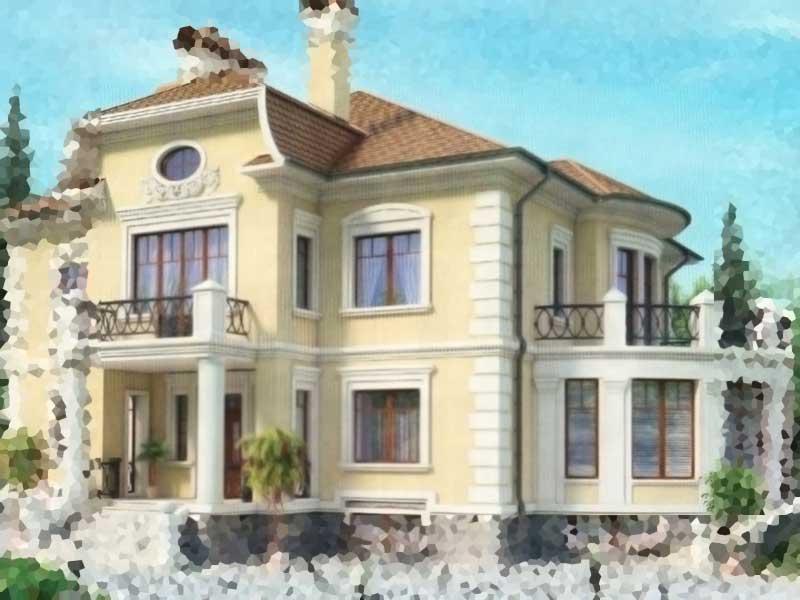 Экстерьер дома - Классический стиль экстерьера дома в Ташкенте